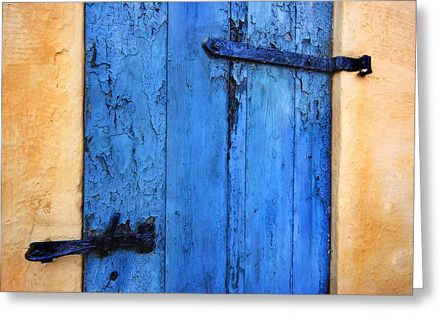 Old Door Greeting Cards - Blue Door Greeting Card by Robert Lacy