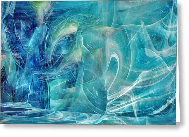 Parallel Universe Greeting Cards - Blue Dream Greeting Card by Linda Sannuti