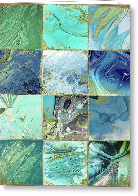 Blue Earth Greeting Card by Mindy Sommers