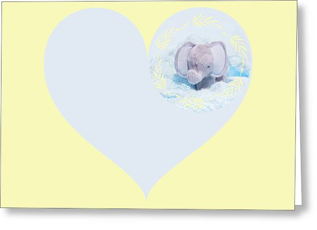 Blue Elephant Greeting Card by Terri Waters