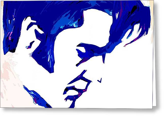 Blue Elvis 1 Greeting Card by Robert Margetts