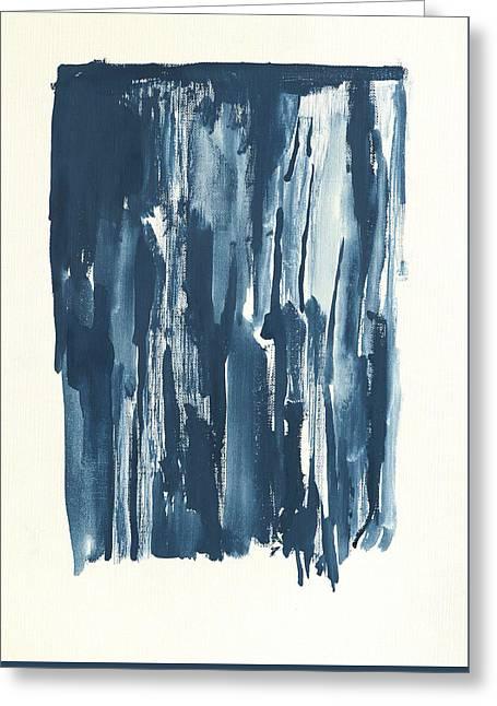 Tears Greeting Cards - Blue Emotion Greeting Card by Amanda Monroe