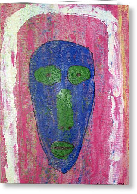 Russell Simmons Greeting Cards - Blue Face II Greeting Card by Russell Simmons