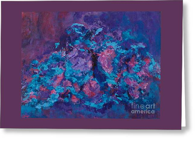 Recently Sold -  - Abstract Expression Greeting Cards - Blue Flight Greeting Card by Patty Mowatt