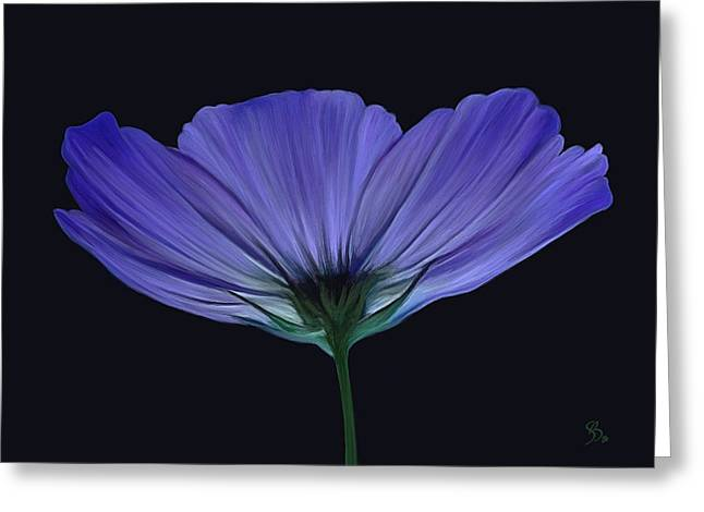 Blue Flower Greeting Card by Sue  Brehant