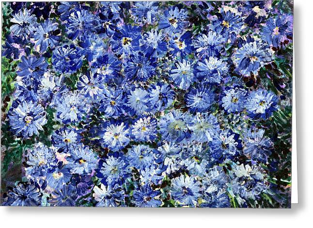 Theater Of The Sea Greeting Cards - Blue Flowers Greeting Card by Don  Wright