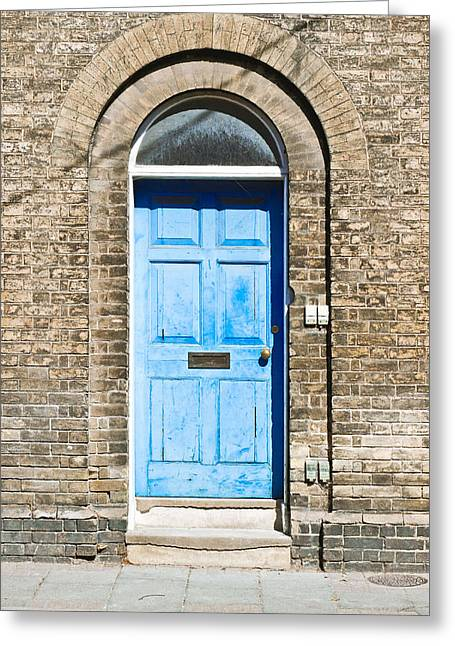 Blue Front Door Greeting Card by Tom Gowanlock