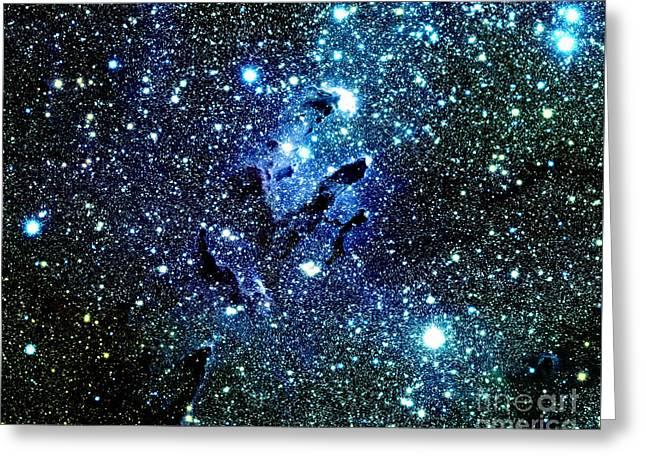 Stellar Prints Greeting Cards - Blue Galaxy Greeting Card by Johari Smith