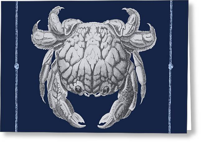 White Jelly Fish Greeting Cards - Blue Harbor-JP2708 Greeting Card by Jean Plout