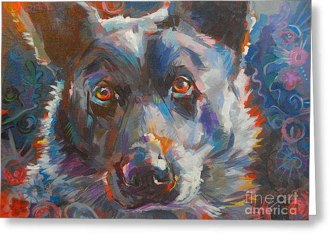 Blue Heeler Greeting Card by Kimberly Santini