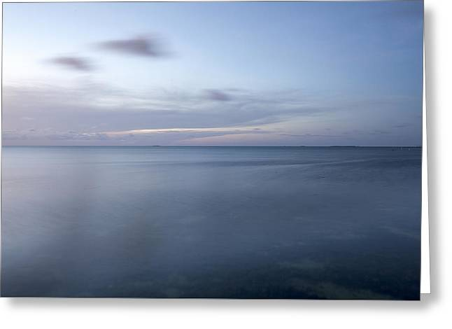 Ocean Shore Greeting Cards - Blue horizon Greeting Card by Al Hurley