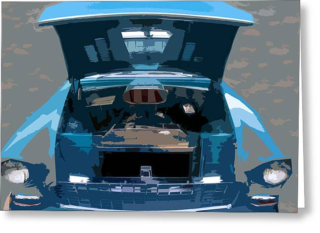 Antic Car Greeting Cards - Blue hot rod Greeting Card by David Lee Thompson