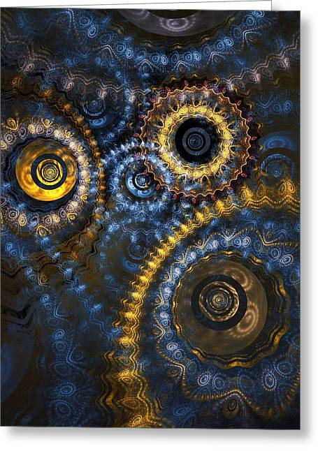 Mechanism Greeting Cards - Blue Hour Greeting Card by Martin Capek