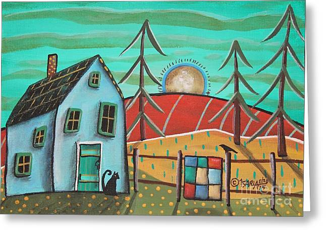 Blue House 1 Greeting Card by Karla Gerard
