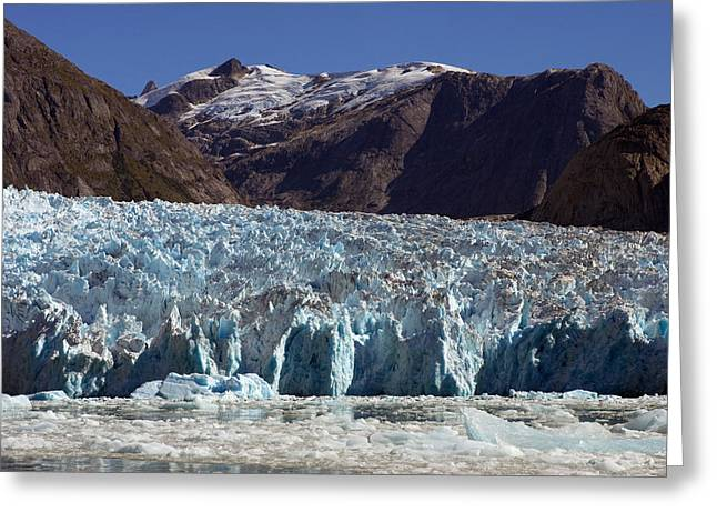Tongass Greeting Cards - Blue Ice Along Glacier Front, Leconte Greeting Card by Ralph Lee Hopkins