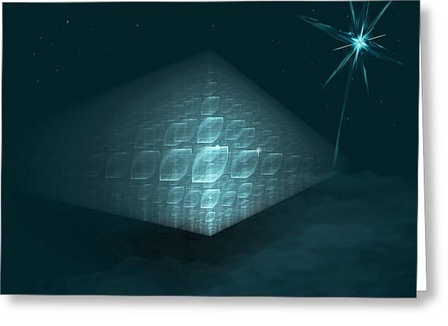 Pyramids Greeting Cards - Blue Ice Pyramid Greeting Card by AGeekonaBike Photography