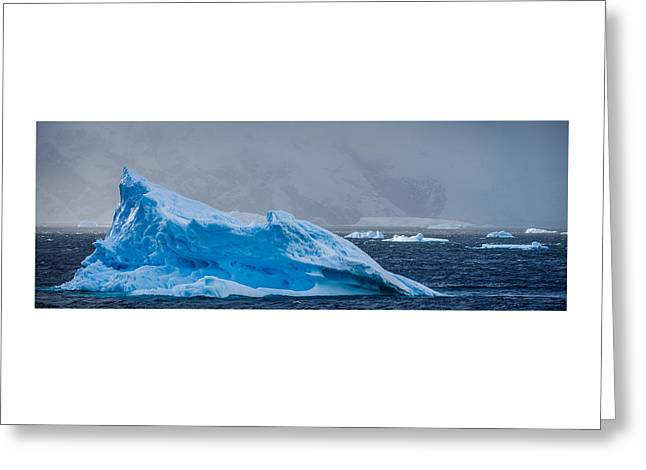 Blue Iceberg - Antarctica Iceberg Photograph Greeting Card by Duane Miller