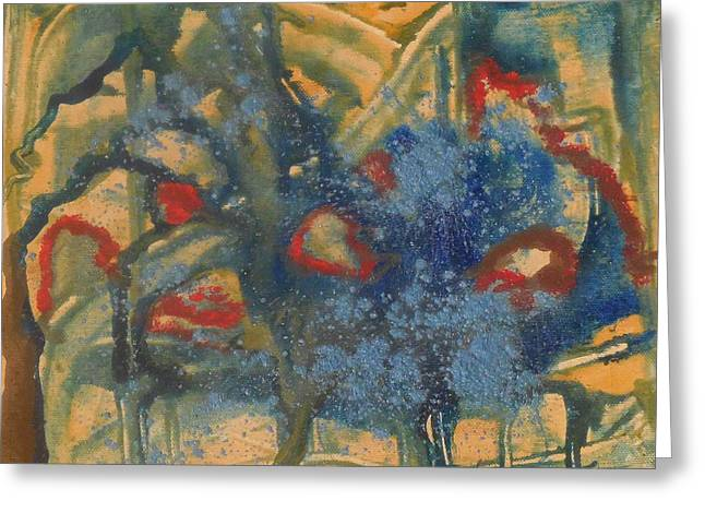 Powder Greeting Cards - Blue In The Park Greeting Card by Karen Butscha