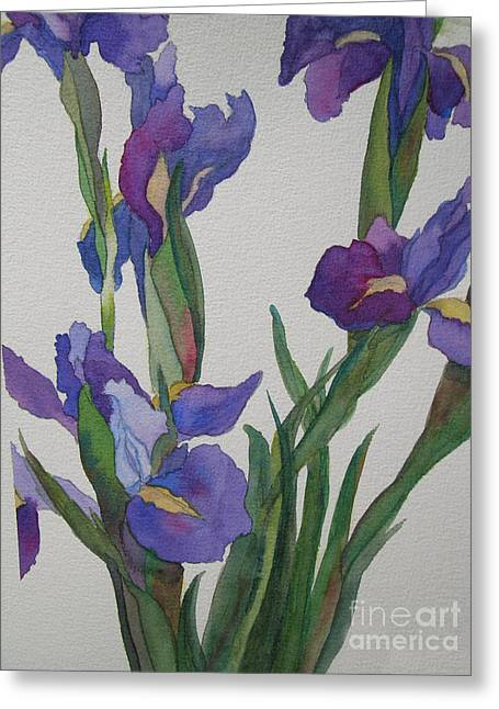 Blue Flowers Greeting Cards - Blue Iris Greeting Card by Jeff Friedman