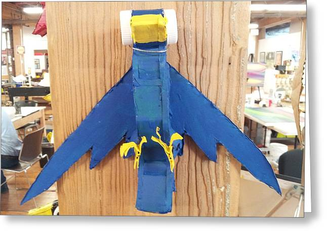 Winged Sculptures Greeting Cards - Blue Jay Greeting Card by William Douglas