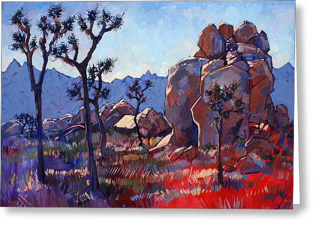 Erin Greeting Cards - Blue Joshua Rock Greeting Card by Erin Hanson