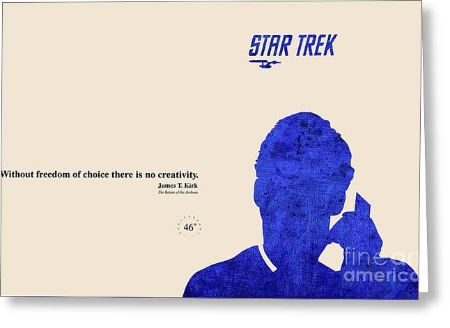 Enterprise Greeting Cards - Blue Kirk Greeting Card by Pablo Franchi