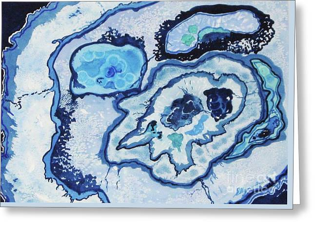 Blue Lace Agate I Greeting Card by Ellen Levinson