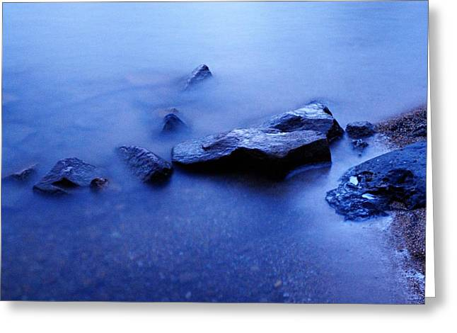 Blue Greeting Card by Larry Ricker