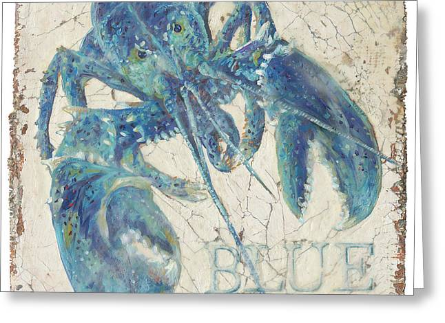 Blue Lobster Greeting Card by Danielle Perry