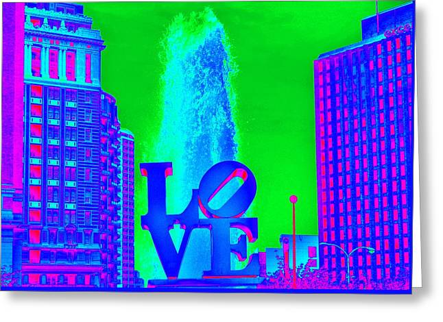 Faa Featured Greeting Cards - Blue Love Greeting Card by Marla McPherson