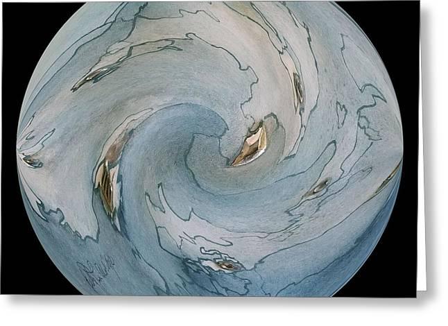 Blue Marble Greeting Card by Betty Lu Aldridge