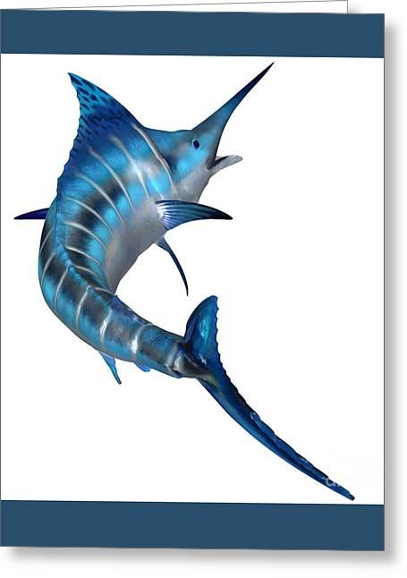Swordfish Greeting Cards - Blue Marlin Predator Greeting Card by Corey Ford