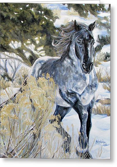 Melody Perez Greeting Cards - Blue Greeting Card by Melody Perez