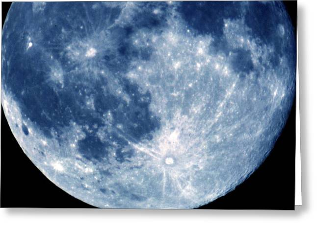 Mare Imbrium Greeting Cards - Blue Moon 7-31-15 Greeting Card by Michelle McPhillips