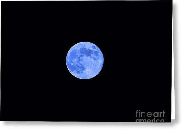 Lunation Greeting Cards - Blue Moon Greeting Card by Al Powell Photography USA