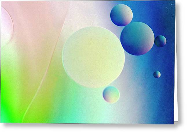 Abstract Oil Greeting Cards - Blue Moon Greeting Card by Rebecca Cozart