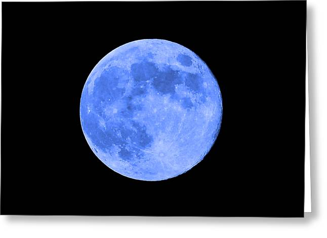 Lunation Greeting Cards - Blue Moon .png Greeting Card by Al Powell Photography USA