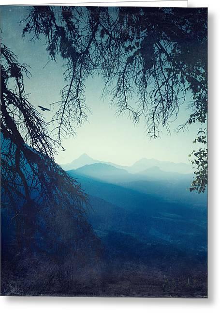 Dirk Wuestenhagen Greeting Cards - Blue Morning Greeting Card by Dirk Wuestenhagen
