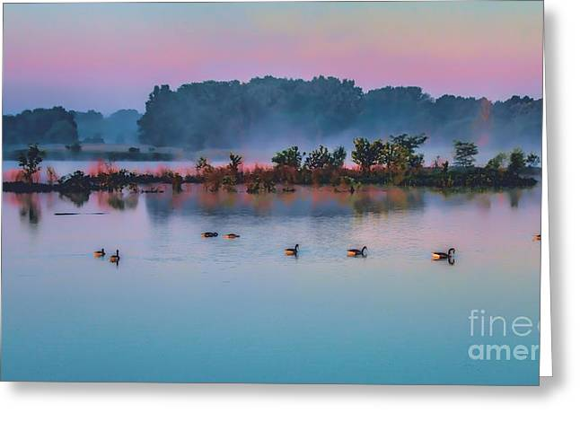 Nature Greeting Cards - Blue Morning Greeting Card by Elizabeth Winter