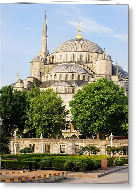Blue Mosque Greeting Card by Artur Bogacki