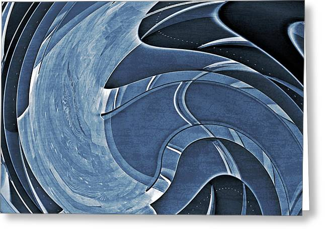 Photographs Greeting Cards - Blue Motion Greeting Card by Susan Leggett