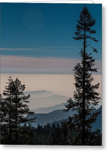 Interior Scene Greeting Cards - Blue Mountains Greeting Card by Patti Deters