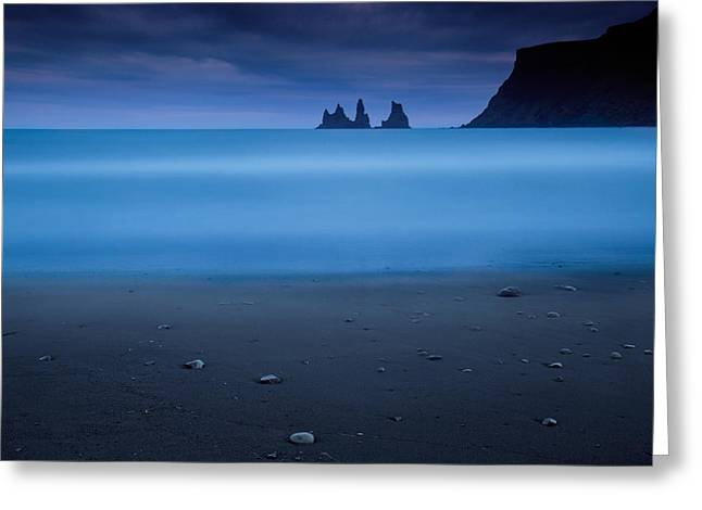 Iceland Greeting Cards - Blue Night 2 Greeting Card by Amnon Eichelberg