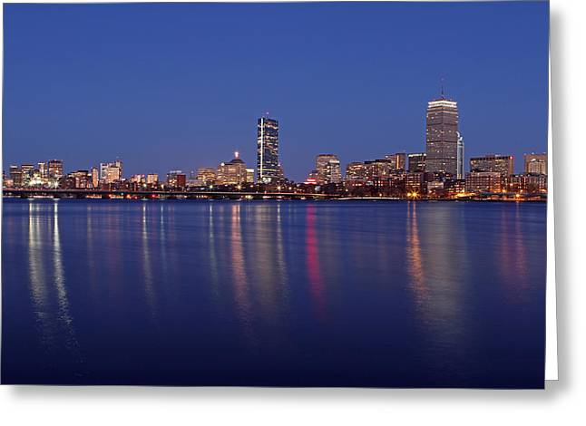 Charles River Greeting Cards - Blue Night Greeting Card by Juergen Roth