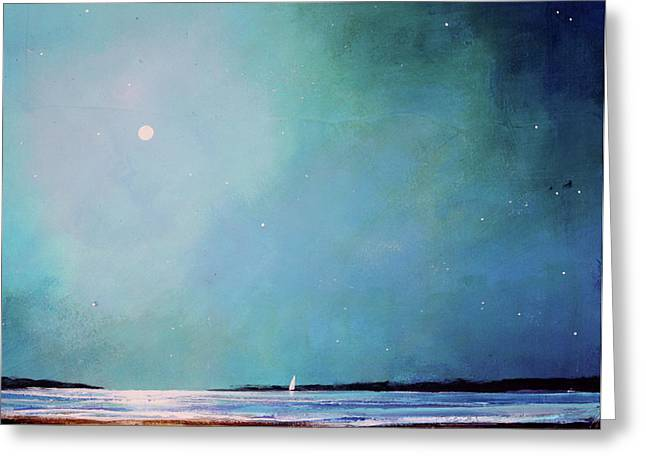 Blue Night Sky Greeting Card by Toni Grote