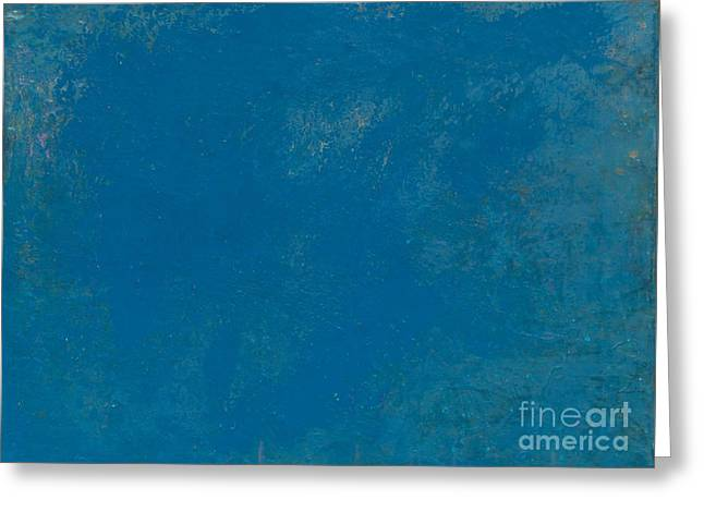 Recently Sold -  - Self Discovery Paintings Greeting Cards - Blue No1 - There is a silence inside the silence... Abstract True Art Greeting Card by Radu Gavrila