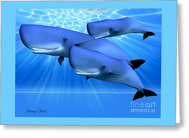 Blue Ocean Greeting Card by Corey Ford