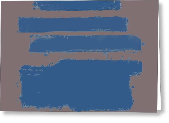 Blue On Brown Greeting Card by Julie Niemela
