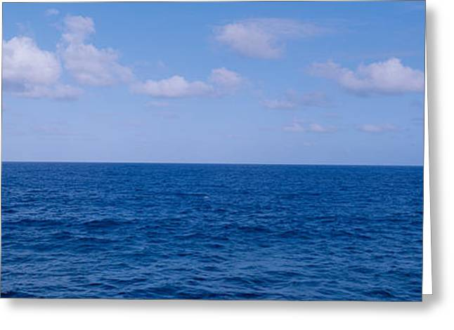 Ocean Panorama Greeting Cards - Blue Pacific Ocean And Clouds Off Hawaii Greeting Card by Panoramic Images