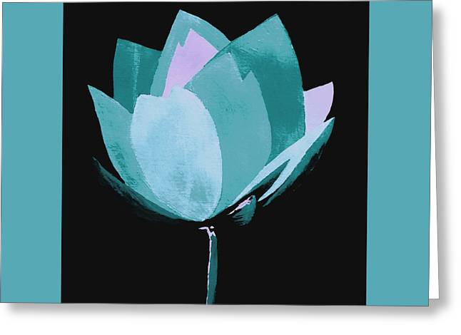 Spectacular Mixed Media Greeting Cards - Blue Petals Greeting Card by Kathleen Sartoris